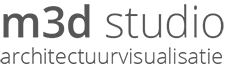 Logo m3dstudio footer